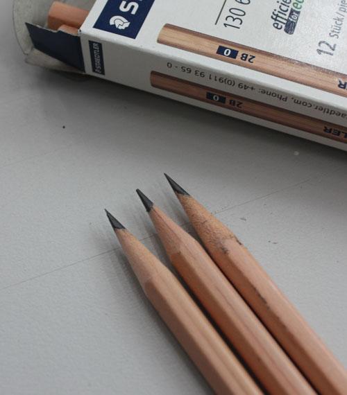Long point pencils