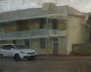 Early morning in Robe, South Australia. (Plein air study in a howling wind...). Oil on Panel