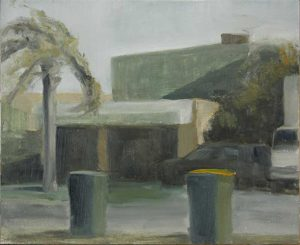 Factory study. Plein air study. oil on panel