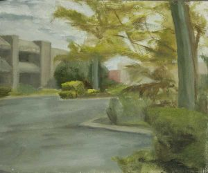 Malaga Carpark Garden. Oil on panel