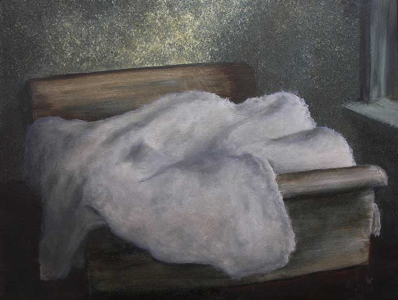 Quilt (Study for Motel Decor I), 2009. Oil on panel, 300 x 400mm