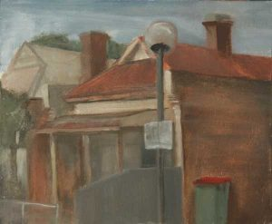 Margaret St, North Adelaide. Oil on panel