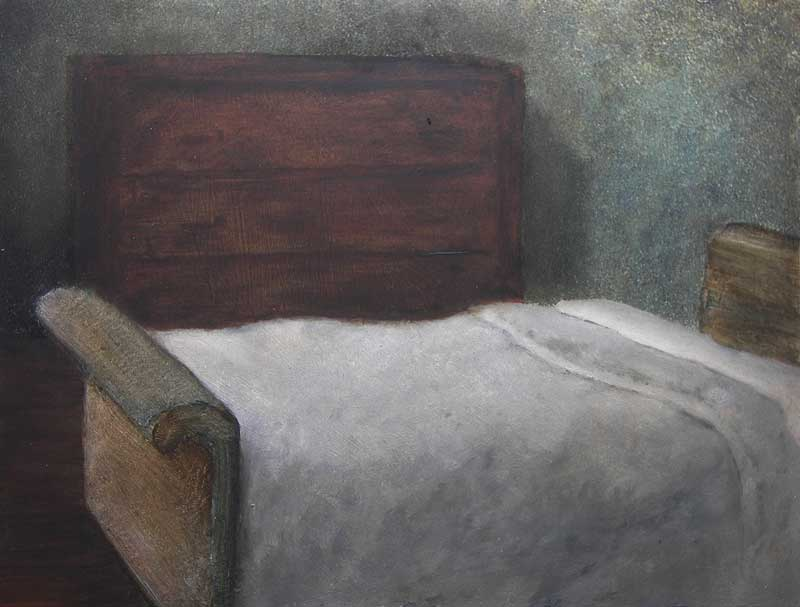 Motel Interior I, 2009, Oil on panel, 300 x 400mm
