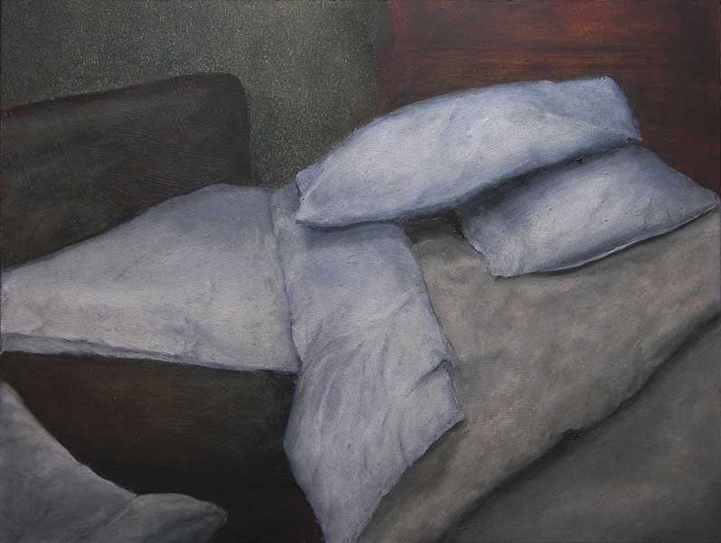 Motel Interior II, 2009, Oil on panel, 300 x 400mm