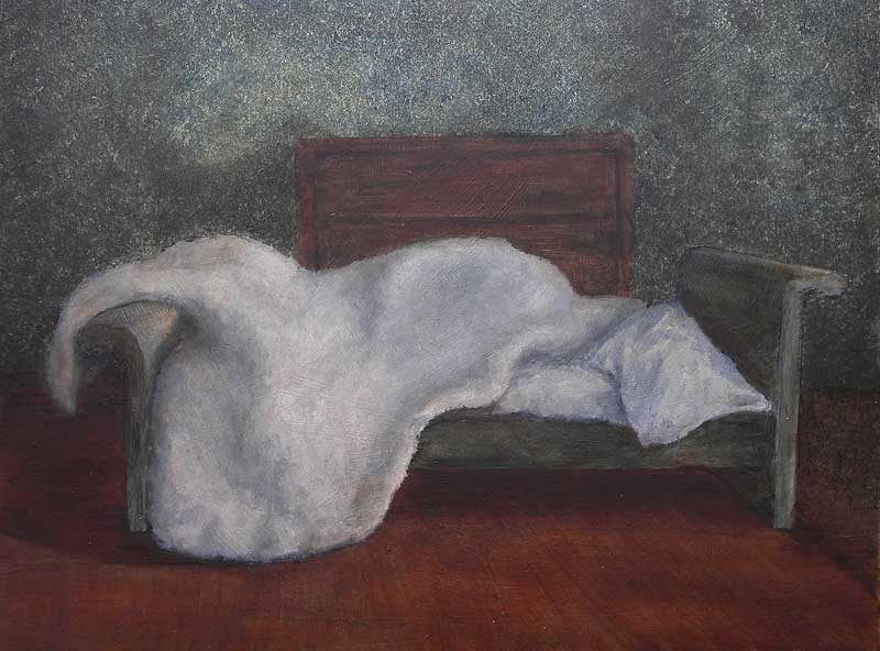 Motel Interior III, 2009, Oil on panel, 300 x 400mm