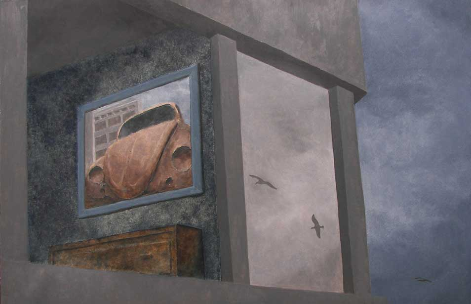 Reflection, 2009, Oil on panel, 146 x 101 cm