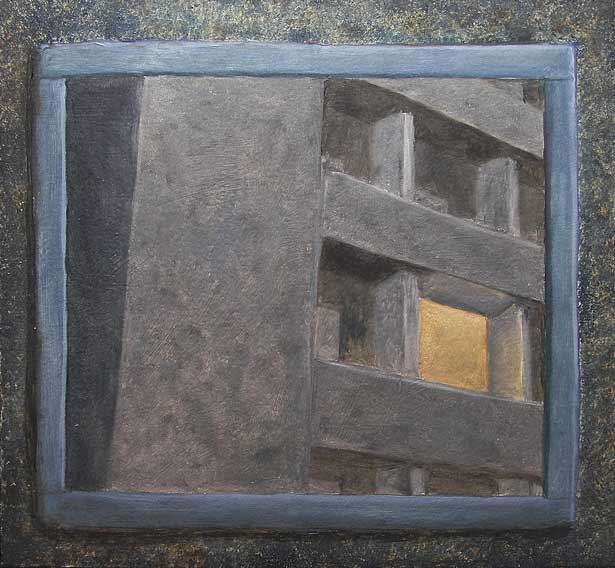 Study for Motel Decor I, 2009. Oil on panel, 300 x 295 mm