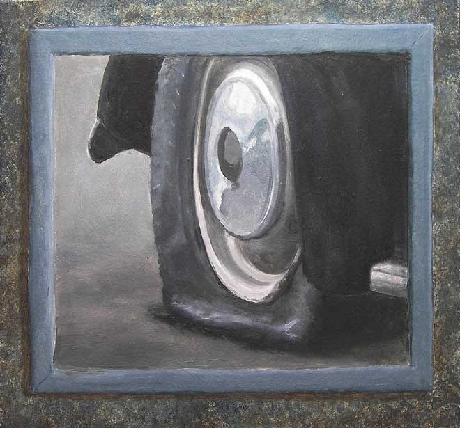 Study for Motel Decor II, 2009, Oil on panel, 300 x 295 mm